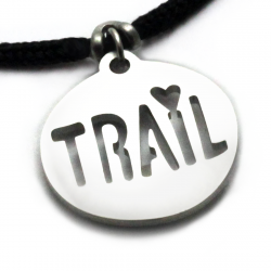 Trail Love Pendant | Stainless Steel | 2mm Polycord