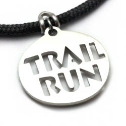 Trail Run Pendant | Stainless Steel | 3mm Polycord