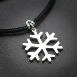 Snowflake Pendant  | Sterling Silver | 2mm Polycord