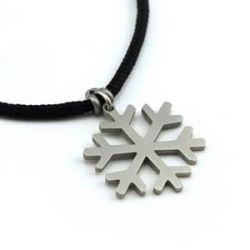 Snowflake Pendant | Stainless Steel | 2mm Polycord