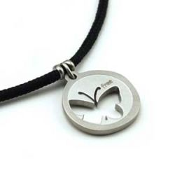 Butterflies are Free Pendant | Stainless Steel | 2mm Polycord
