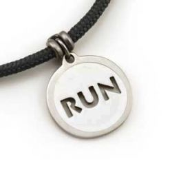 Run Pendant | Stainless Steel | 3mm Polycord