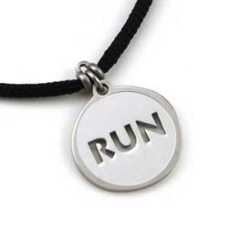 Run Pendant | Stainless Steel | 2mm Polycord