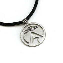 AT Sunburst Logo Pendant | Stainless Steel | 2mm Polycord
