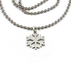Snowflake Necklace | Stainless Steel | 1.5mm Ball Chain