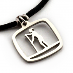 SUP Gal Pendant | Stainless Steel | 2mm Polycord