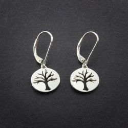 Tree Earrings | Sterling Silver