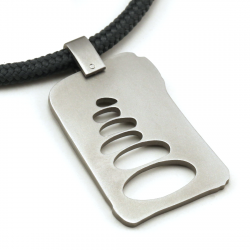 Cairn Pendant | Stainless Steel | Slate | 3mm Polycord