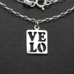 Velo Love Necklace | Sterling Silver | 18 inch Silver Chain