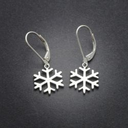 Snowflake Earrings | Sterling Silver