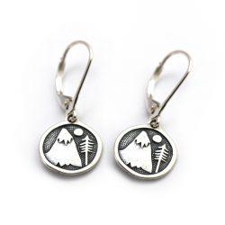 Mountains For Me Earrings | Sterling Silver