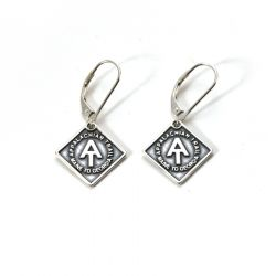 AT Earrings | Sterling Silver