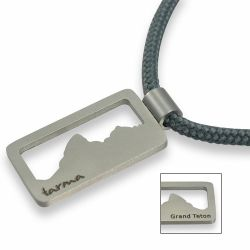 Grand Teton Pendant | Stainless Steel | 3mm Polycord