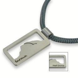 Half Dome Pendant | Stainless Steel | 3mm Polycord