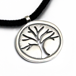 Tree of Life Pendant | Sterling Silver | 2mm Polycord