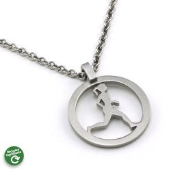 Running Gal Necklace | Stainless Steel | 18 inch Stainless Steel Chain
