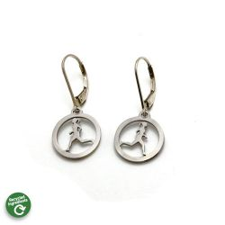 Running Gal Leverback Earrings | Stainless Steel