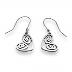 Heart Spiral Earrings | Stainless Steel