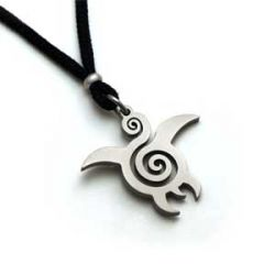 Turtle Pendant | Stainless Steel | 2mm Polycord