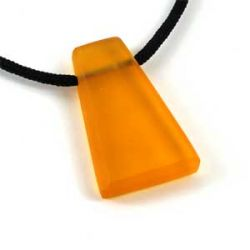 Butterscotch Wedge Pendant | Resin | Polycord