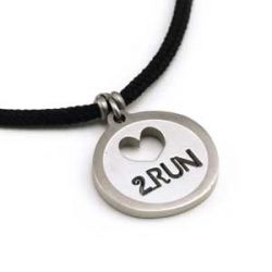 Love 2 Run Pendant | Stainless Steel | 2mm Polycord