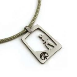 AT Hiking Gal Pendant | Stainless Steel | 2mm Polycord