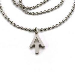 AT Charm Necklace | Stainless Steel | 1.5mm Ball Chain
