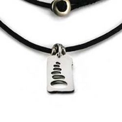 Cairn Charm   Stainless Steel   1.5mm Polycord