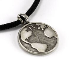 Globe Pendant | White Bronze | 2mm Polycord