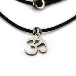 Om Charm | Stainless Steel | 1.5mm Polycord