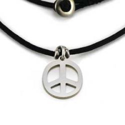 Peace Charm | Stainless Steel | 1.5mm Polycord