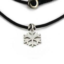 Snowflake Charm | Stainless Steel | 1.5mm Polycord