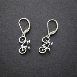 Mountain Bike Earrings | Sterling Silver
