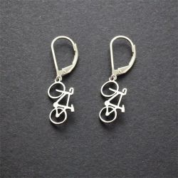 Road Bike Earrings | Sterling Silver