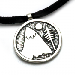 Mountains For Me Pendant | Sterling Silver | 2mm Polycord
