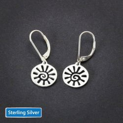 Sun Earrings | Sterling Silver