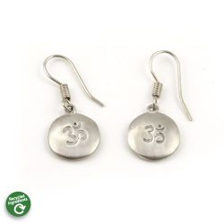Cast Om Earrings | Stainless Steel