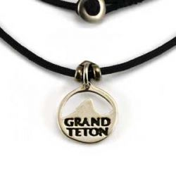 Grand Teton Charm | White Bronze | 1.5mm Polycord