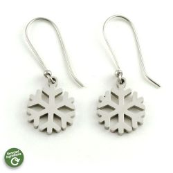 Snowflake Earrings | Stainless Steel