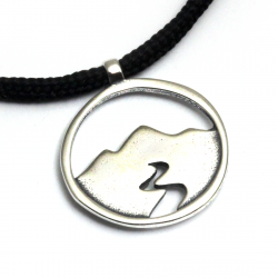 Mountain Spirit Pendant | Sterling Silver | 2mm Polycord