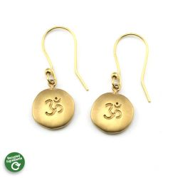 Om Earrings | Faux Gold Stainless Steel
