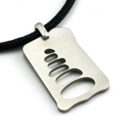 Cairn Pendant | Stainless Steel | 2mm Polycord