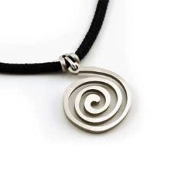 Spiral Pendant | Stainless Steel | 2mm Polycord