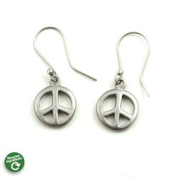 Peace Symbol Earrings | Stainless Steel
