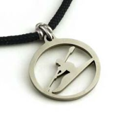 Kayaker Pendant | Stainless Steel | 2mm Polycord
