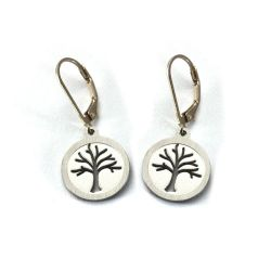 Tree Leverback Earrings | Stainless Steel
