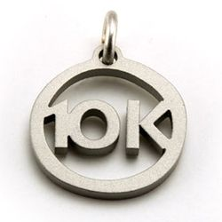 10K Charm   Stainless Steel