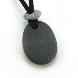 Round Stone Pendant | Pacific Stone | 2mm Polycord