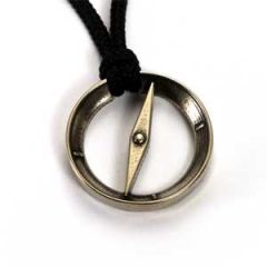 Compass Pendant | White Bronze | 2mm Polycord