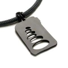 Cairn Pendant | Black Stainless Steel | 3mm Polycord